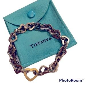 AUTHENTIC TIFFANY & CO HEART LINK BRACELET RETIRED